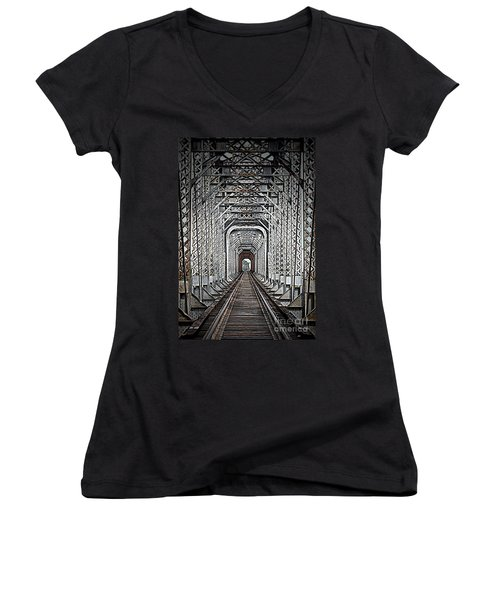 Women's V-Neck T-Shirt (Junior Cut) featuring the photograph The Other Side  by Barbara Chichester