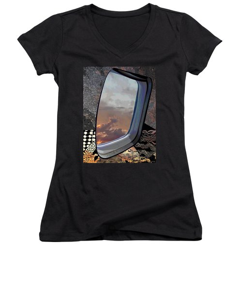 Women's V-Neck T-Shirt (Junior Cut) featuring the digital art The Other Side Of Natural by Glenn McCarthy Art and Photography