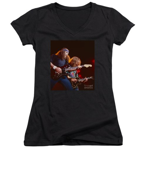 The Outlaws - Hughie Thomasson And Billy Jones Women's V-Neck (Athletic Fit)