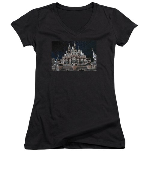 Women's V-Neck T-Shirt (Junior Cut) featuring the photograph The Palace by Robert Meanor