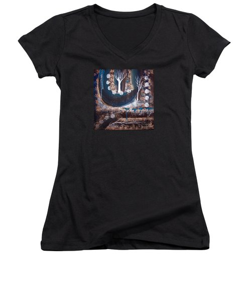 The Path Of Life Women's V-Neck (Athletic Fit)