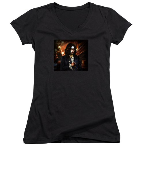 The Phantom Of The Opera Women's V-Neck T-Shirt (Junior Cut) by Alessandro Della Pietra