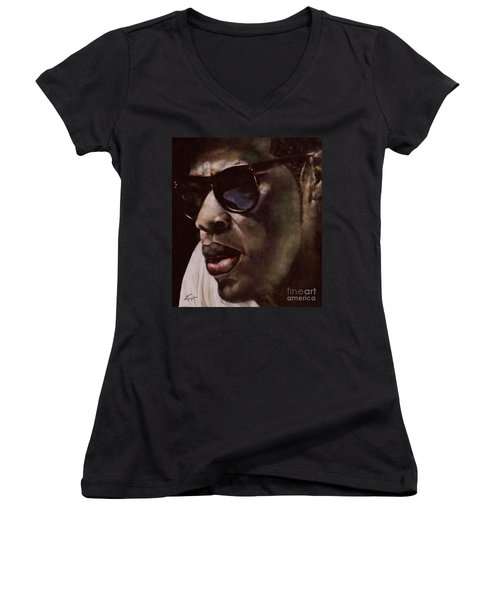 The Pied Piper Of Intrigue - Jay Z Women's V-Neck