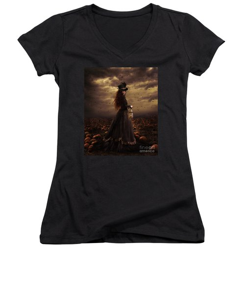 The Pumpkin Patch Women's V-Neck T-Shirt