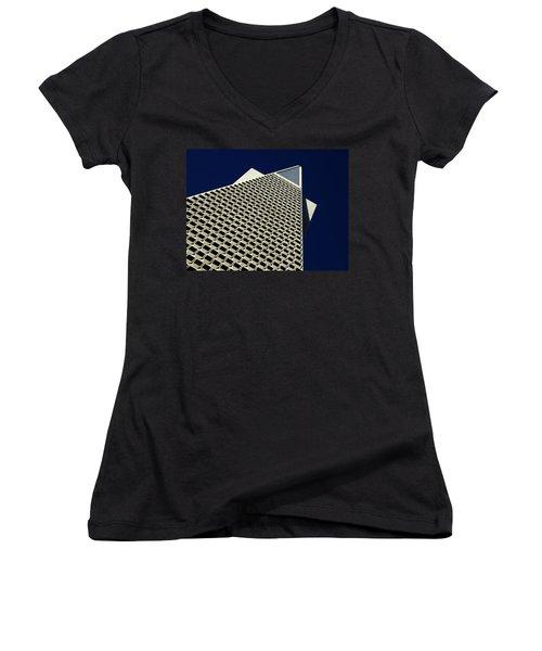 The Pyramid Women's V-Neck T-Shirt (Junior Cut) by Bill Gallagher