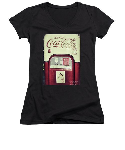 Women's V-Neck T-Shirt (Junior Cut) featuring the photograph The Real Thing by Traci Cottingham