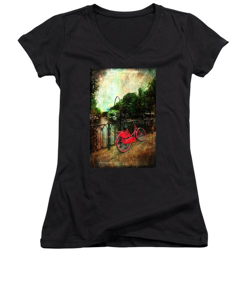 The Red Bicycle Women's V-Neck T-Shirt