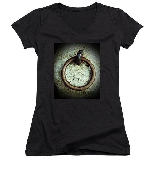 The Ring Women's V-Neck T-Shirt (Junior Cut) by Holly Blunkall