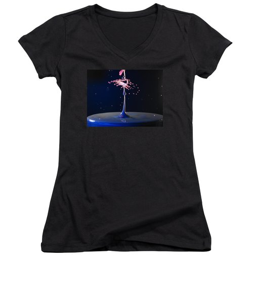 Women's V-Neck T-Shirt (Junior Cut) featuring the photograph The Scorpion by Kevin Desrosiers