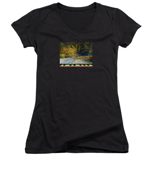 The Song That Keeps Repeating In My Head Women's V-Neck (Athletic Fit)