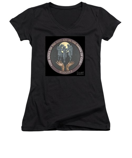 The Souls Of The Just Are In The Hands Of God 172 Women's V-Neck