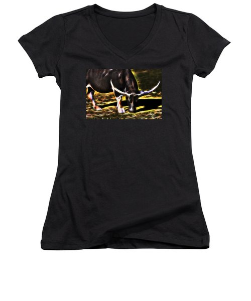 The Sparks Of Water Buffalo Women's V-Neck T-Shirt