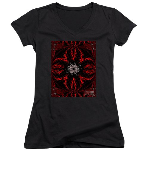The Spider's Web  Women's V-Neck (Athletic Fit)