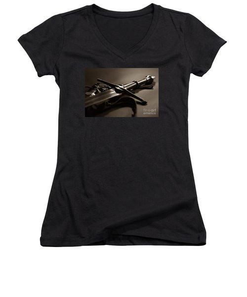 The Sword Of Aragorn 2 Women's V-Neck T-Shirt