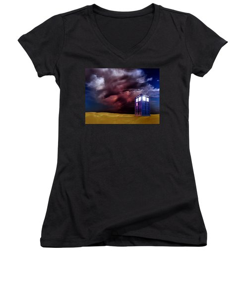 The Tardis Women's V-Neck