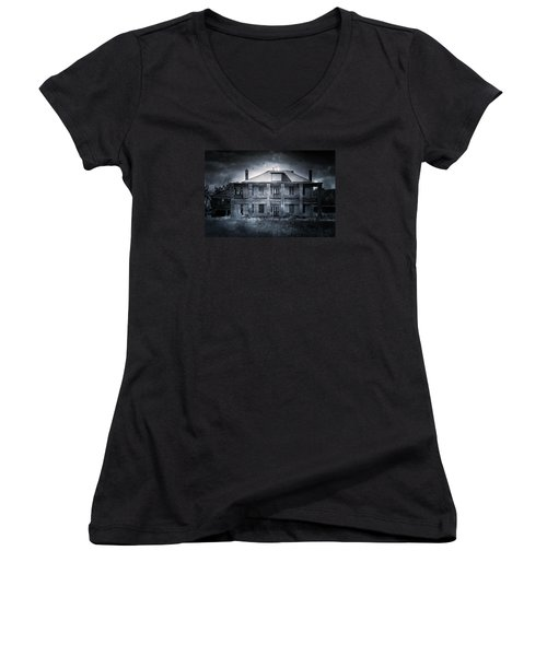 Tcm #9  Women's V-Neck T-Shirt (Junior Cut) by Trish Mistric
