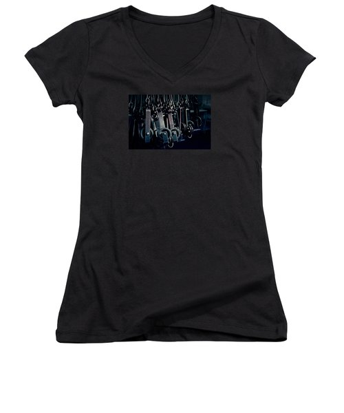 Tcm #2 - Slaughterhouse  Women's V-Neck T-Shirt (Junior Cut) by Trish Mistric