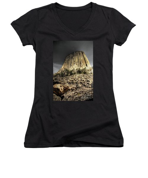 The Tower Of Boulders Women's V-Neck