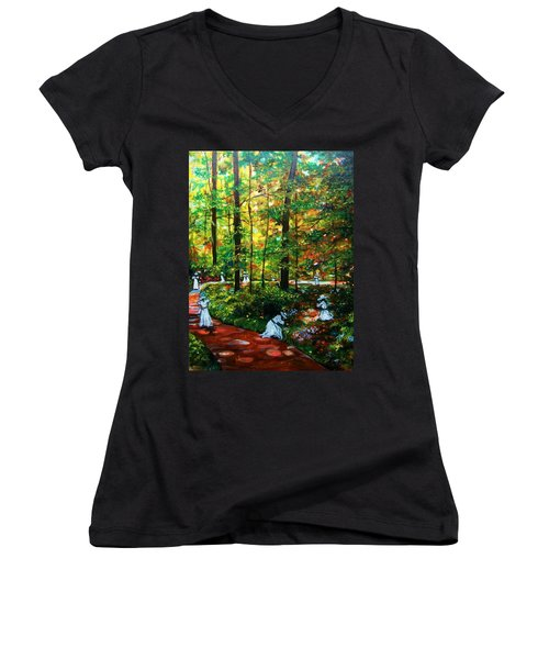 The Trials Women's V-Neck T-Shirt (Junior Cut) by Emery Franklin