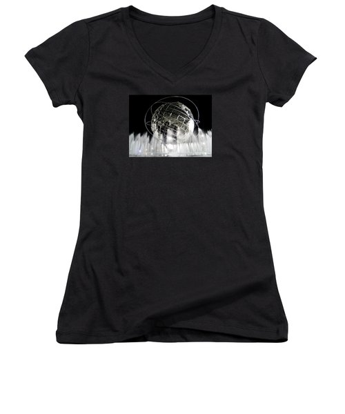 The Unisphere's 50th Anniversary Women's V-Neck (Athletic Fit)