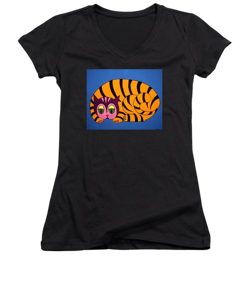 The Unity Cat Women's V-Neck (Athletic Fit)