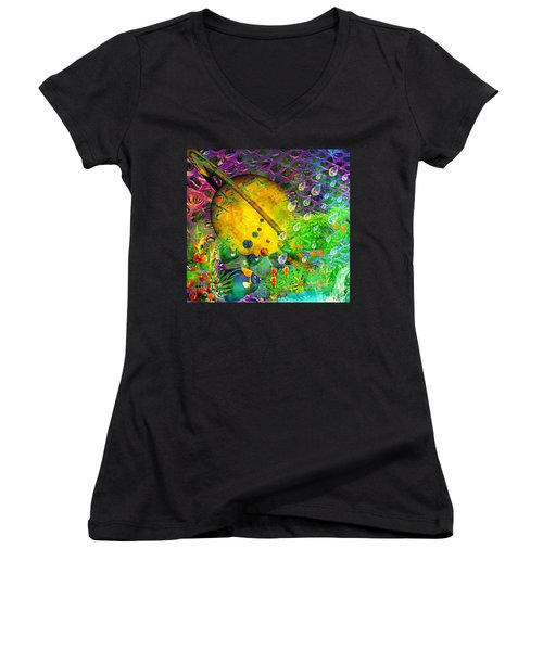 The View From A Moon Women's V-Neck T-Shirt