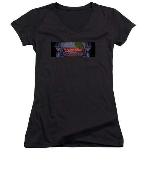 The Wagon Women's V-Neck T-Shirt