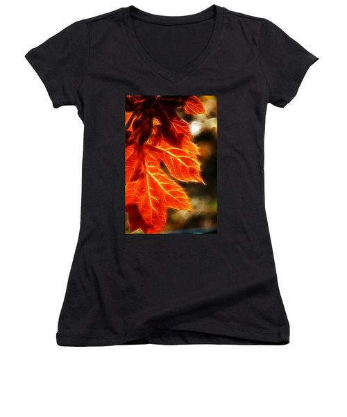 The Warmth Of Fall Women's V-Neck (Athletic Fit)