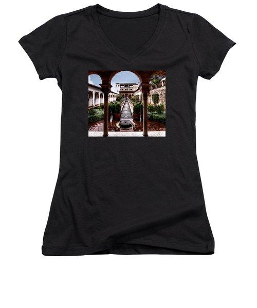 The Water Gardens Women's V-Neck T-Shirt