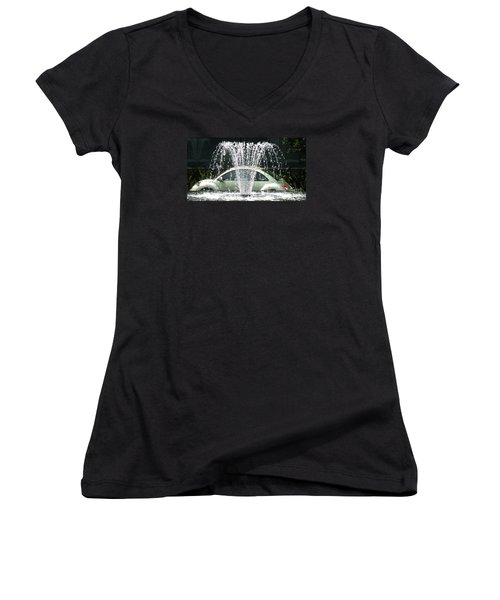 Women's V-Neck T-Shirt (Junior Cut) featuring the photograph The  Waterbug by John King