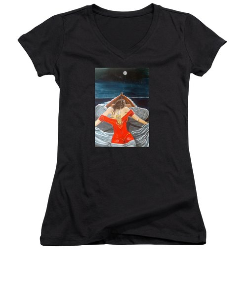 The Whims Of The Moon  Women's V-Neck (Athletic Fit)