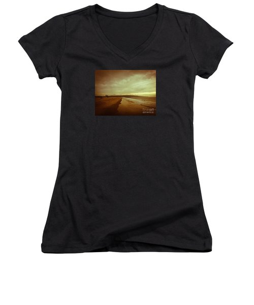The Winter Pacific Women's V-Neck T-Shirt (Junior Cut) by Fei A
