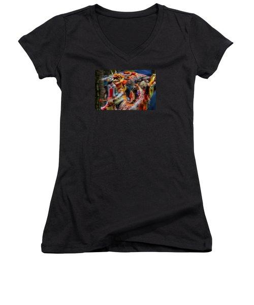 Their Spirit Is Among Us - Nanticoke Powwow Delaware Women's V-Neck T-Shirt