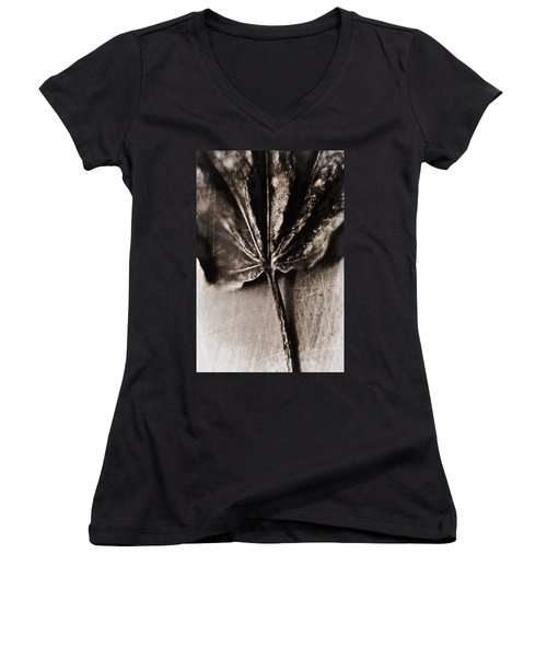 Women's V-Neck T-Shirt (Junior Cut) featuring the photograph There Is A Season by Aaron Berg