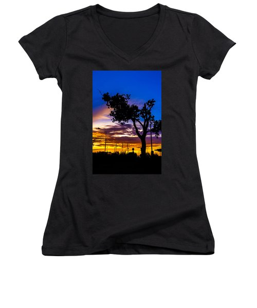 There Is Something Magical About The Sky Women's V-Neck