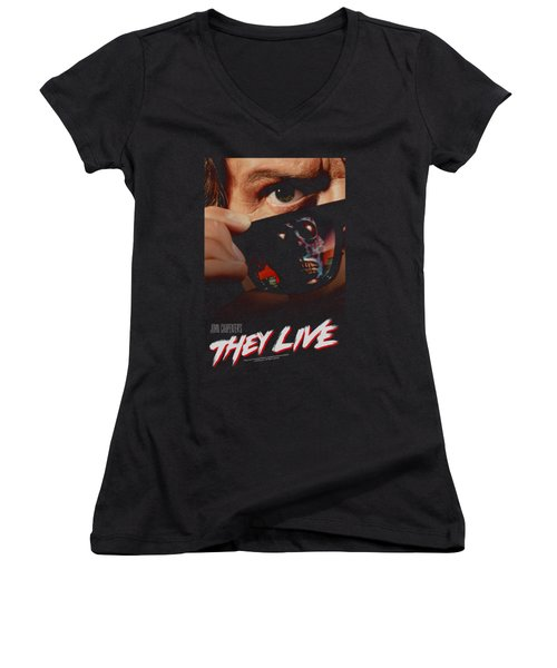 They Live - Poster Women's V-Neck T-Shirt