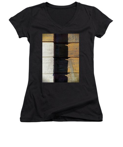 Women's V-Neck T-Shirt (Junior Cut) featuring the photograph Thirds by James Aiken