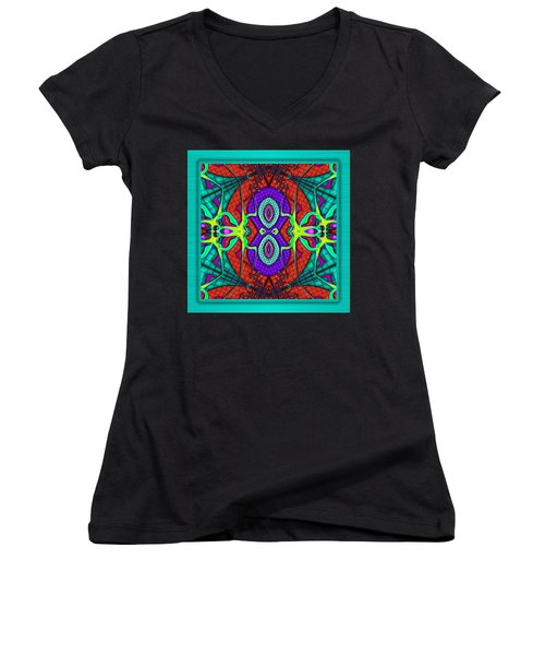 This Rough Magic 3 Women's V-Neck T-Shirt (Junior Cut) by Wendy J St Christopher