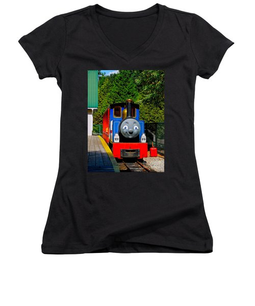 Thomas Women's V-Neck T-Shirt