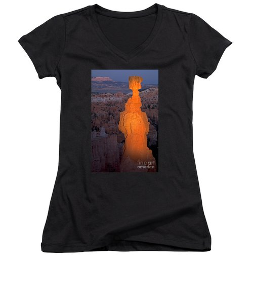 Thors Hammer Sunset Point Bryce Canyon National Park Women's V-Neck (Athletic Fit)