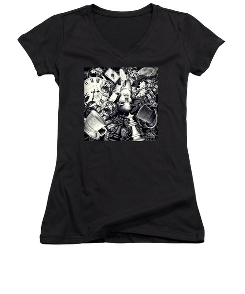Through The Looking-glass Women's V-Neck