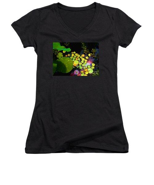 Through The Looking Glass Bristol Rhode Island Women's V-Neck T-Shirt (Junior Cut)