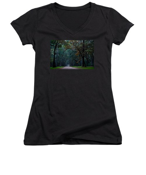 Through The Woods Women's V-Neck (Athletic Fit)