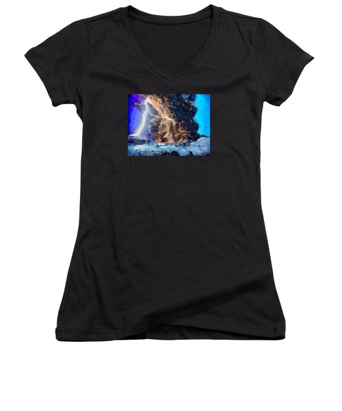 Thunder Struck Women's V-Neck