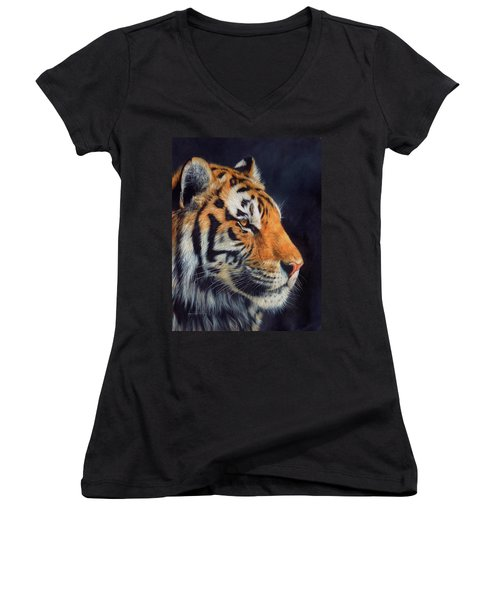 Tiger Profile Women's V-Neck