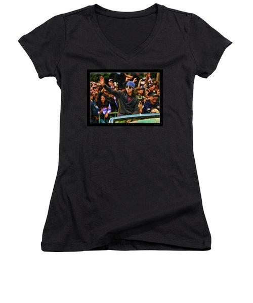 Tim Lincecum World Series 2012 Women's V-Neck