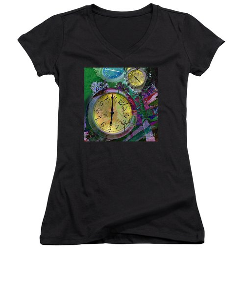 Time Women's V-Neck T-Shirt