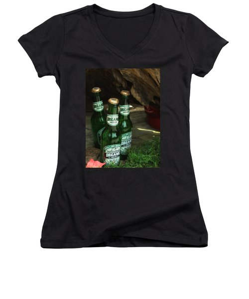 Women's V-Neck T-Shirt (Junior Cut) featuring the photograph Time In Bottles by Rachel Mirror