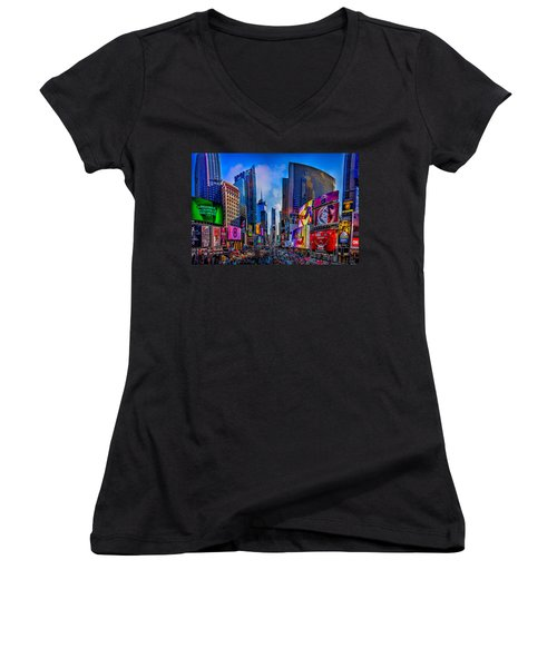 Times Square Women's V-Neck T-Shirt