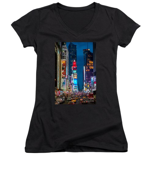 Times Square I Women's V-Neck